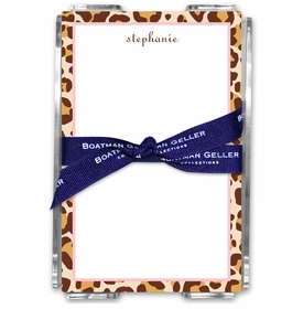 boatman geller leopard acrylic note sheets