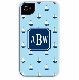 boatman geller little sailboat cell phone case
