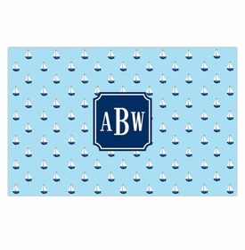 boatman geller little sailboat disposable placemats