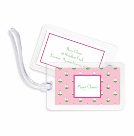 boatman geller little sailboat pink bag tags
