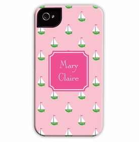 boatman geller little sailboat pink cell phone case