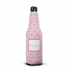 boatman geller little sailboat pink koozie