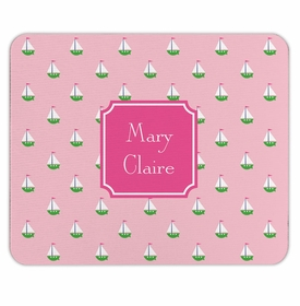 boatman geller little sailboat pink mouse pad