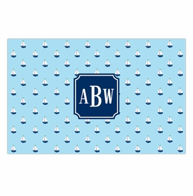 boatman geller little sailboat placemat