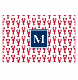 boatman geller lobsters red disposable placemats