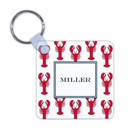 boatman geller lobsters red key chain