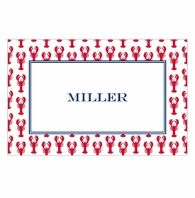 boatman geller lobsters red placemat