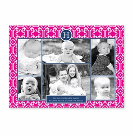 boatman geller lulu hot pink & navy photocard