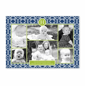 boatman geller lulu navy & green photocard