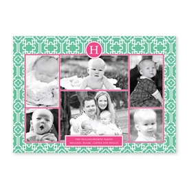 boatman geller lulu teal & hot pink photocard