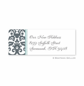 boatman geller madison charcoal address labels