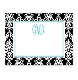 boatman geller madison damask black calling card
