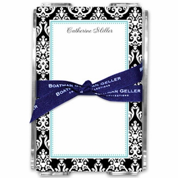 boatman geller madison damask black note sheets in acrylic