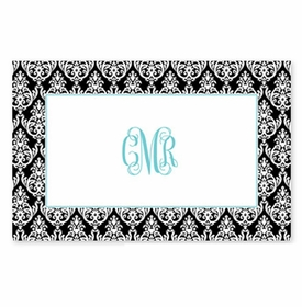 boatman geller madison damask black placemat