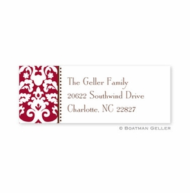 boatman geller madison damask chocolate address labels