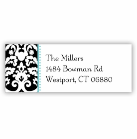 boatman geller madison damask midnight address labels