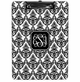 boatman geller madison damask white with black clipboard