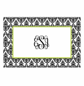 boatman geller madison damask white with black placemat