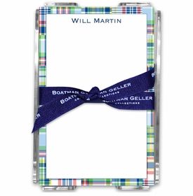 boatman geller madras patch blue acrylic note sheets