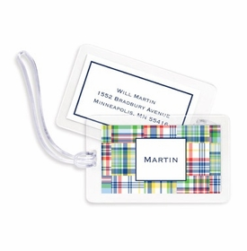 boatman geller madras patch blue bag tags