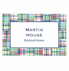 boatman geller madras patch blue disposable placemats