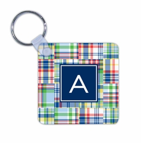 boatman geller madras patch blue key chain