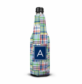 boatman geller madras patch blue koozie