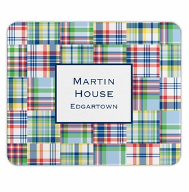 boatman geller madras patch blue mouse pad