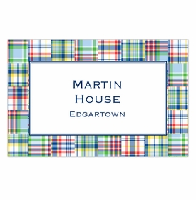 boatman geller madras patch blue placemat