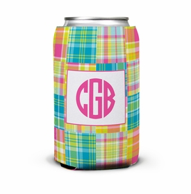 boatman geller madras patch bright can koozie