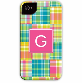 boatman geller madras patch bright cell phone case