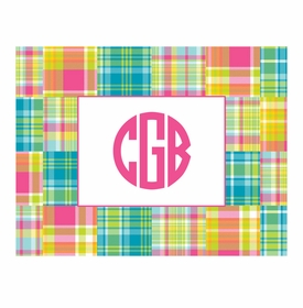 boatman geller madras patch bright foldover note