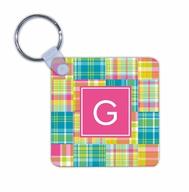 boatman geller madras patch bright key chain