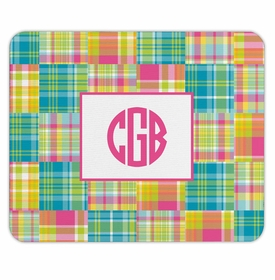 boatman geller madras patch bright mouse pad