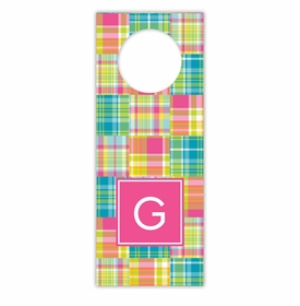 boatman geller madras patch bright wine tags