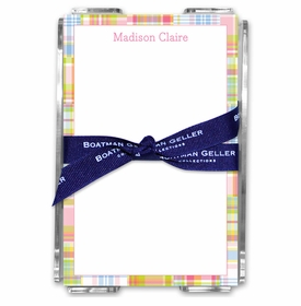 boatman geller madras patch pink acrylic note sheets