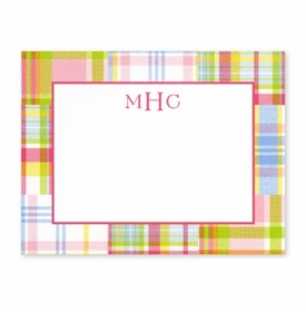 boatman geller madras patch pink calling card