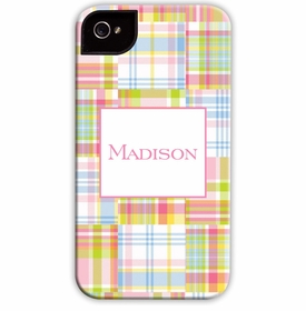 boatman geller madras patch pink cell phone case