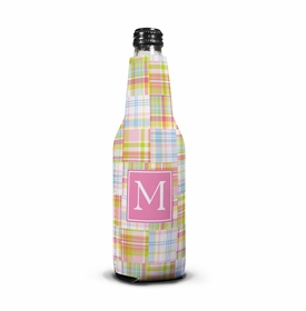 boatman geller madras patch pink koozie