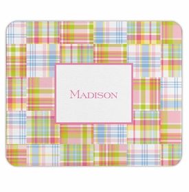 boatman geller madras patch pink mouse pad