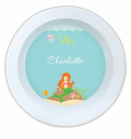 boatman geller mermaid melamine bowl