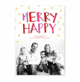 boatman geller merry happy pink & red photocard