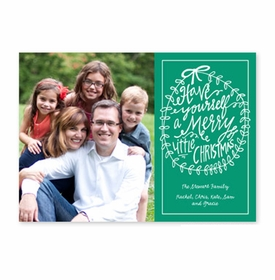 boatman geller merry little christmas emerald photocard