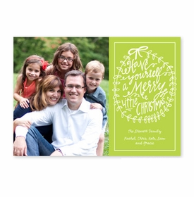 boatman geller merry little christmas lime photocard