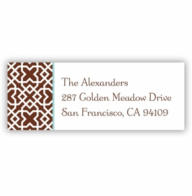 boatman geller mod lattice brown address labels