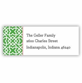 boatman geller mod lattice green address labels