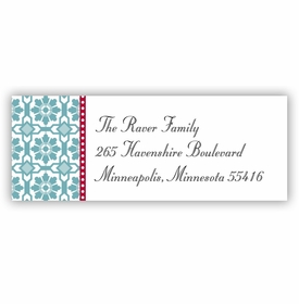 boatman geller mosaic blue address labels