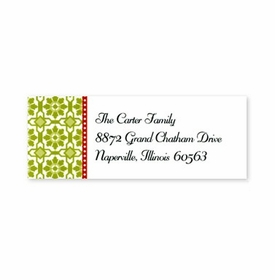 boatman geller mosaic green address labels