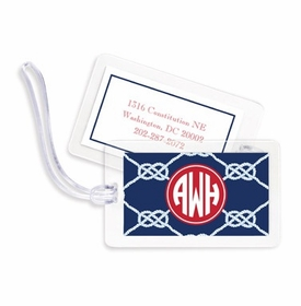 boatman geller nautical knot navy bag tags