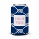 boatman geller nautical knot navy can koozie